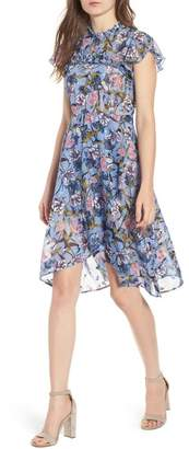 Chelsea28 Ruffle Front High Low Dress