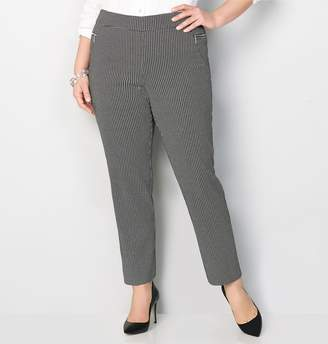 Avenue Pattern Pull-On Pant with Zipper Pockets
