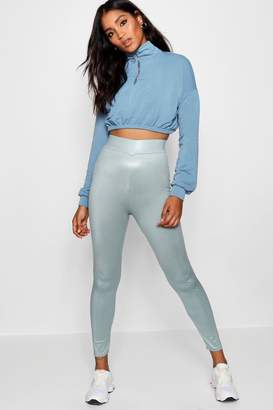 boohoo Disco Slinky High Waist Leggings