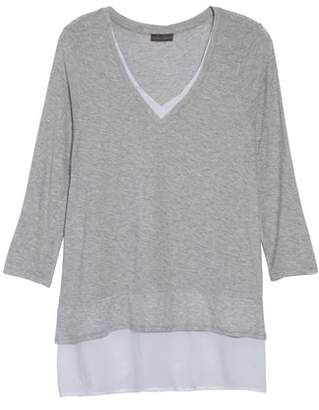 Vince Camuto Mixed Media Tunic