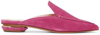 Nicholas Kirkwood Pink Suede Beya Mules