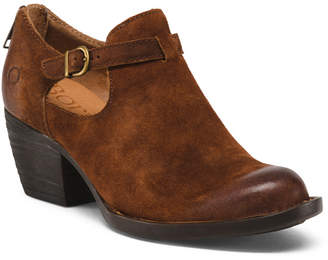 Børn Cut Out Leather Ankle Booties