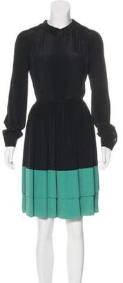 Jonathan Saunders Knee-Length Long Sleeve Dress
