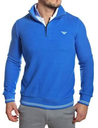 Emporio Armani Men's Zip Up Cotton Jumper - , M
