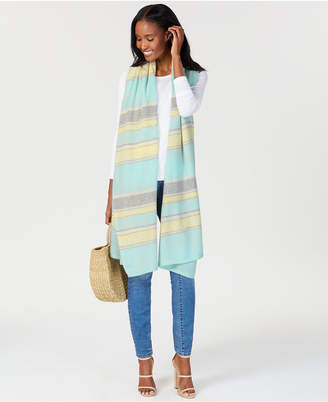 Charter Club Oversized Striped Cashmere Scarf