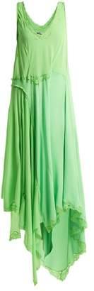 Balenciaga Round Neck Draped Dress - Womens - Light Green