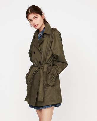 Express Relaxed Flutter Sleeve Trench Coat