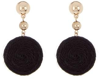 Ettika Thread Circle Drop Earrings