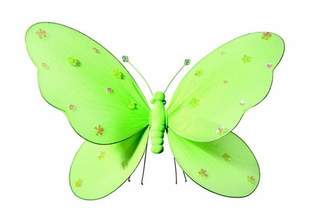 Zoomie Kids Katheryn Sequined Hanging Butterfly 3D Wall Dcor