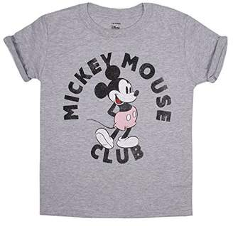 Disney Girl's Mickey Mouse Pink Shorts T-Shirt