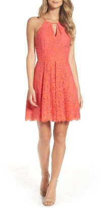 Women's Adelyn Rae Renee Lace Fit & Flare Dress $108 thestylecure.com