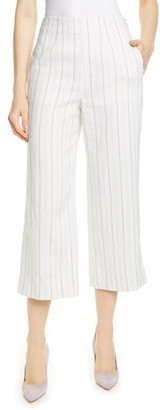 Rebecca Taylor Tailored by Stripe Crop Suit Pants