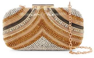 Sondra Roberts Chain & Crystal Embellished Clutch