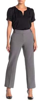 PREMISE STUDIO Belt Loop Basketweave Stretch Pants (Petite)