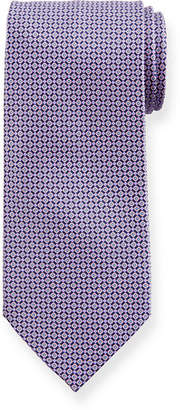 Stefano Ricci Small-Flower Patterned Silk Tie