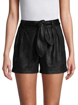 Highline Collective Faux Suede Pleated Cargo Shorts