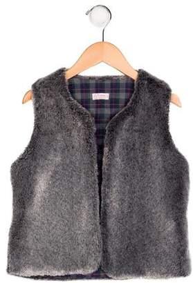 La Coqueta Girls' Faux Fur Vest