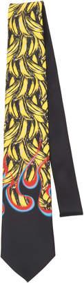 Prada Banana And Flame Silk Tie
