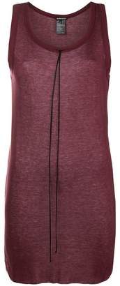 Ann Demeulemeester sleevless drawstring top