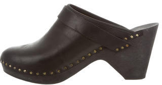 Isabel Marant Isabel Marant Round-Toe Leather Clogs