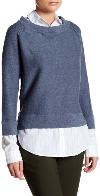 Brochu Walker Evie Layered Crew Neck Sweatshirt
