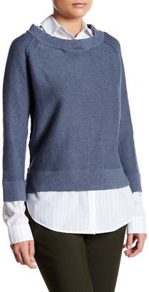 Brochu Walker Evie Layered Crew Neck Sweatshirt $338 thestylecure.com