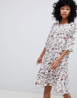 Ichi Floral Drop Waist Dress