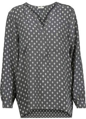 Joie Nepal Printed Washed-Silk Top