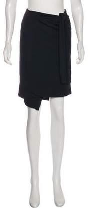 Maison Margiela Tie-Accented Knee-Length Skirt