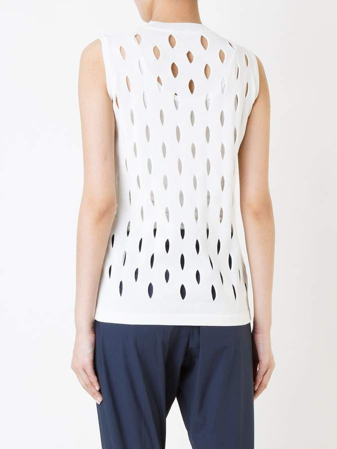 08sircus perforated detail sleeveless top