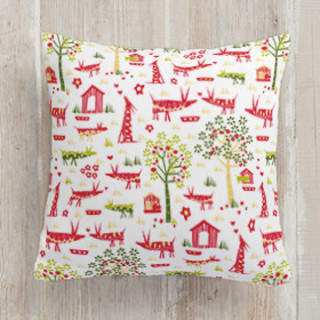 Orchard Animals Square Pillow