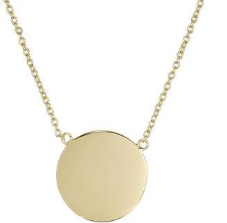 Aqua Flat Disc Pendant Necklace, 15 - 100% Exclusive