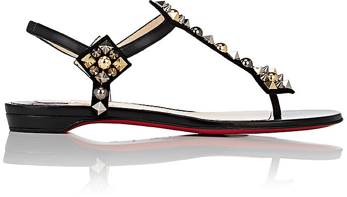 Christian Louboutin Women's Kaleicadra Leather T-Strap Sandals