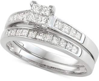 Macy's Diamond Princess Bridal Set (3/4 ct. t.w.) in 14k White Gold