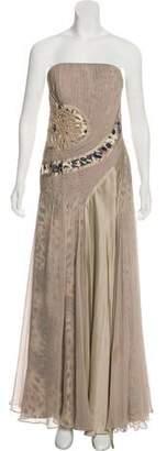 Carlos Miele Strapless Silk Gown