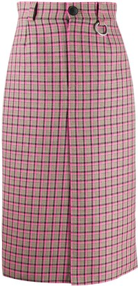 Balenciaga W pleat skirt