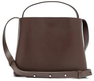 Aesther Ekme - Mini Sac Leather Cross Body Bag - Womens - Dark Brown