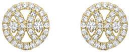 Kiki McDonough 18k Gold Diamond Round Stud Earrings