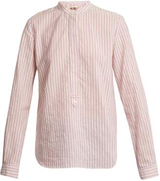Vanessa Bruno Mandarin collar striped cotton shirt