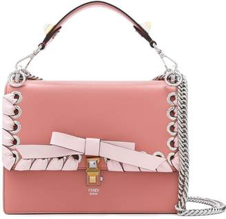 Fendi pink Kan I leather shoulder bag