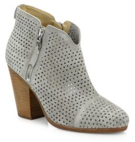 Rag & Bone Margot Perforated Suede Zip Booties $495 thestylecure.com