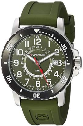 Wenger Men's 'Off Road GMT' Swiss Quartz Stainless Steel and Silicone Casual Watch