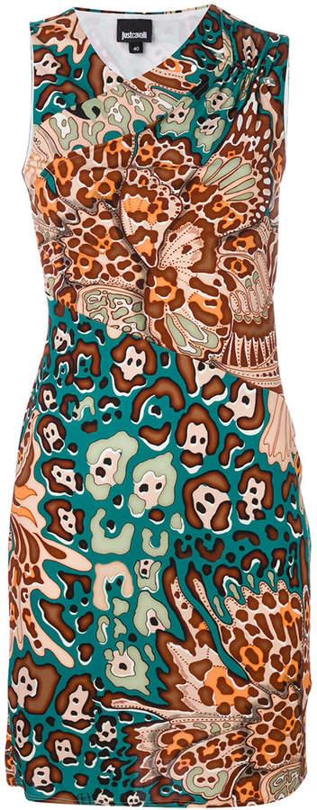 graphic print mini dress