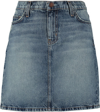 Current/Elliott The Skinny Mini denim skirt $198 thestylecure.com