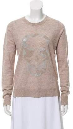 Zadig & Voltaire Cashmere Embellished Knit Top