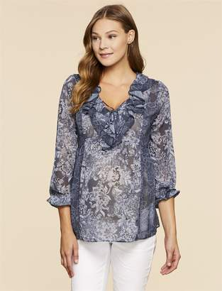 Jessica Simpson Motherhood Maternity Ruffled Maternity Top