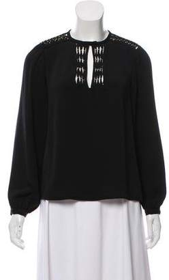 Diane von Furstenberg Florina Long Sleeve Top