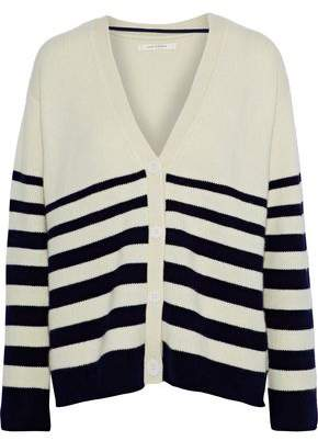 Chinti and Parker Striped Intarsia Cashmere Cardigan