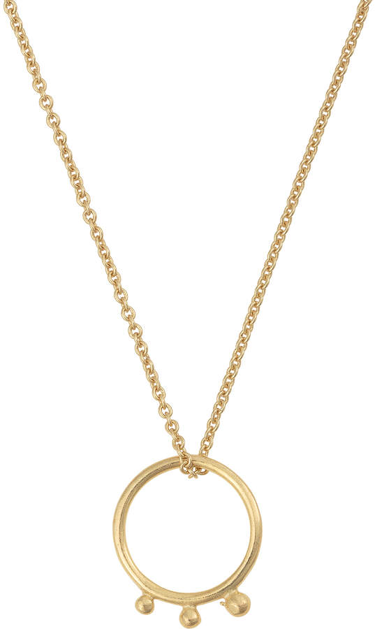Oliver Bonas Tyree Ring & Three Sphere Brass Pendant Necklace