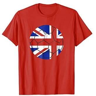 British Footballer T-Shirt: UK Flag Soccer Ball v.1